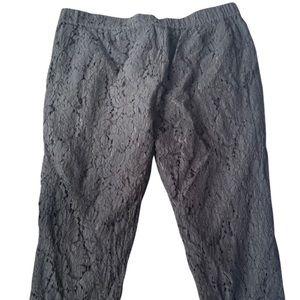 J.Crew black lace cotton ankle pants Size 20
